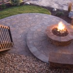 Flagstone Patio and Stone Fireplace