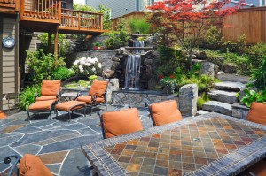 flagstone patio and water feature 2